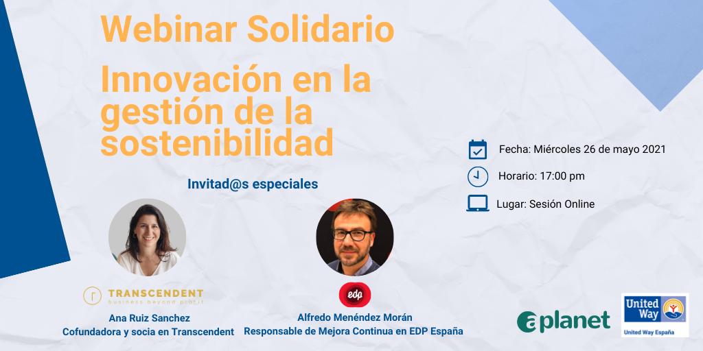 Webinar Solidario - Innovación en Gestión Sostenibilidad